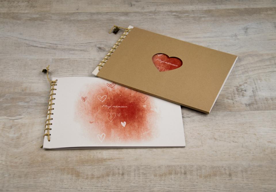 Korzetka - srdce červená