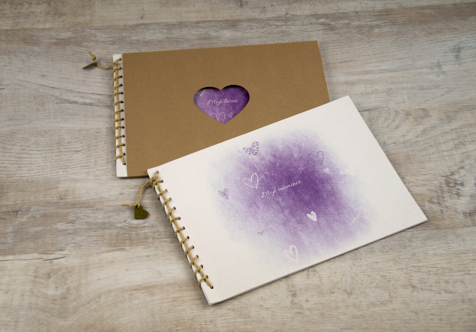 Korzetka - srdce fialová