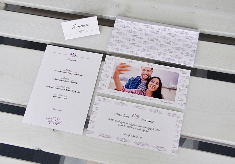 Svatební set fialový
